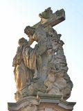 Praha, Karlův most, sousoší sv. Luitgardy
