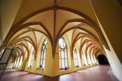 Cheb, křížová chodba františkánského kláštera