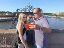 Selfie na Karlově mostě