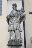 Třeboň, za kostelem Panny Marie Královny a sv. Jiljí