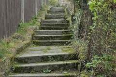 Chřibská, schody ke Křížové chodbě